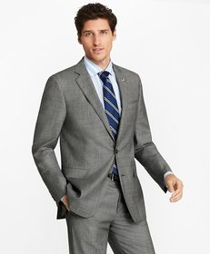 Brooks Brothers Regent Fit Grey Two-Button 1818 Su