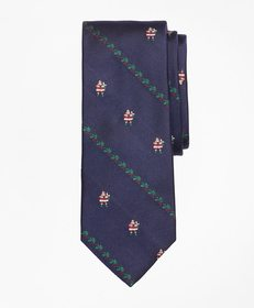 Brooks Brothers Santa with Holly Tie