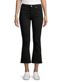 7 For All Mankind High-Rise Cropped Wide-Hem Jeans