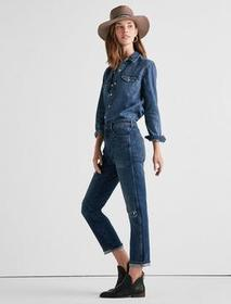 Lucky Brand High Rise Tomboy Jean In Solano