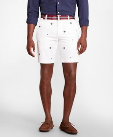 Brooks Brothers Foulard Embroidered Shorts