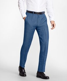 Brooks Brothers Regent Fit Linen Trousers