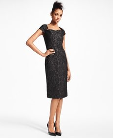 Brooks Brothers Paisley Jacquard Cocktail Dress