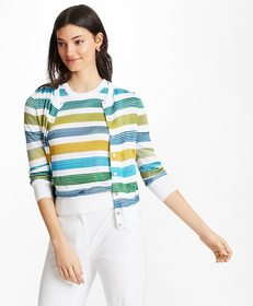 Brooks Brothers Striped Supima® Cotton-Blend Cardi