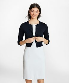 Brooks Brothers Supima® Cotton Cropped Cardigan