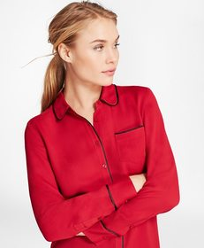 Brooks Brothers Piped Georgette Shirt