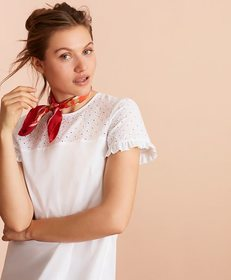 Brooks Brothers Eyelet-Yoke Blouse