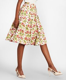 Brooks Brothers Cherry-Print Cotton Sateen Skirt