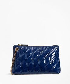 Brooks Brothers Quilted Patent Leather Wristlet Cl