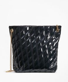 Brooks Brothers Quilted Patent Leather Shoulder Ba