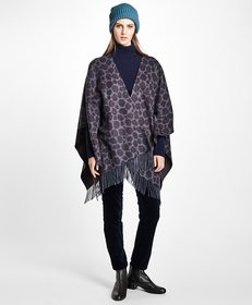 Brooks Brothers Double-Faced Animal-Print Cashmere