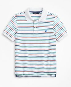 Brooks Brothers Boys Short-Sleeve Cotton Pique Str