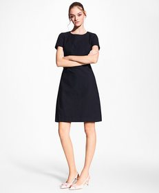 Brooks Brothers Stretch-Cotton Jacquard Shift Dres