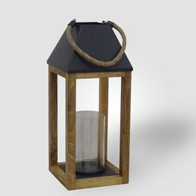 Outdoor Lantern Wood and Rope - Threshold™