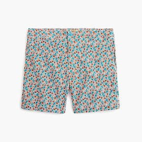 "J. Crew 7"" stretch eco pool short in floral print"