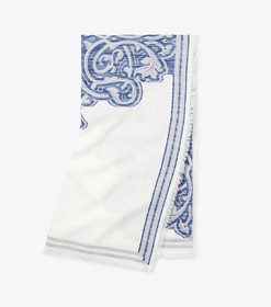 Tory Burch FIL COUPÉ OVERSIZED SQUARE SCARF