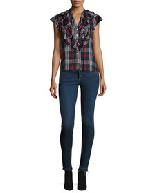 Contemporary Designer Kate Raw-Hem Skinny Jeans