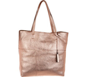 """As Is"" Vince Camuto Metallic Leather Tote Bag - R"