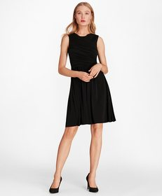Brooks Brothers Ruched Jersey Dress