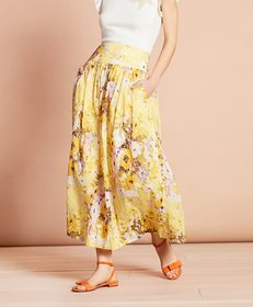 Brooks Brothers Floral-Print Cotton Maxi Skirt