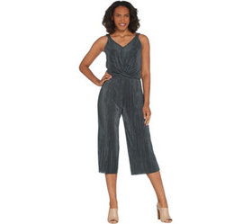 """As Is"" Lisa Rinna Collection Twist Front Jumpsuit"