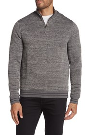 Ted Baker London Textured Knit Half Zip Pullover