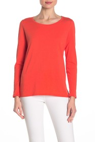 Eileen Fisher Scoop Neck Long Sleeve T-Shirt (Peti