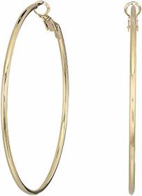 Kenneth Jay Lane Small Gold Hoop Post Ear Earrings