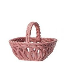 Pfaltzgraff Pink Pierced Basket With Handle