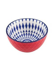 Pfaltzgraff Red Geometric Soup Cereal Bowl