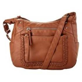 Bueno Flat Braid Hobo Crossbody