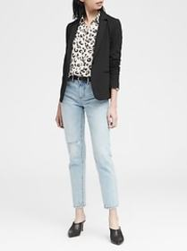 Unstructured Knit Blazer