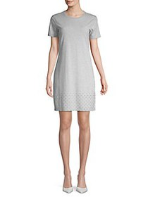 MICHAEL Michael Kors Studded Short Sleeve Shift Dr