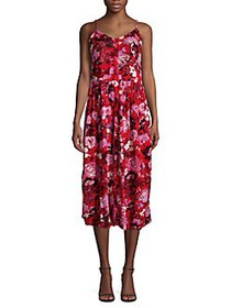 Vero Moda Floral A-Line Dress CHINESE RED