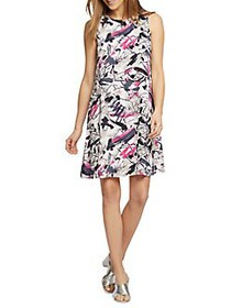 NIC+ZOE Graffiti Femme Dress MULTI