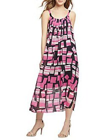 NIC+ZOE Block Party Dress PINK MULTI