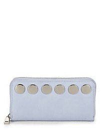 French Connection Celia Studded Zip-Around Wallet