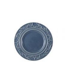 Mikasa Scroll Blue Appetizer Plate