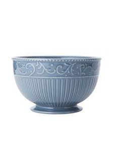 Mikasa Scroll Blue Cereal Bowl