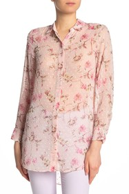 CeCe by Cynthia Steffe Duchess Floral Sheer Top