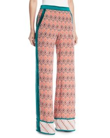 Talitha Collection Almasi-Print Wide-Leg Pull-On T