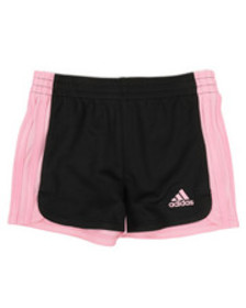 Adidas three striped blocked shorts (2t-6x)