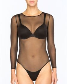Spanx SPANX® Sheer Fashion Mesh Thong Bodysuit