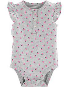 carters Baby Girl Strawberry Flutter-Sleeve Collec