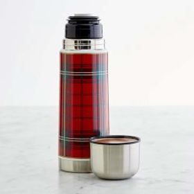 Plaid Insulated Beverage Container