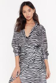 Nasty Gal Womens Light blue Wild Dancing Zebra Rel