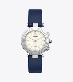 Tory Burch CLASSIC T HYBRID SMARTWATCH, STAINLESS