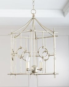 Silver Six-Sided Park Chandelier