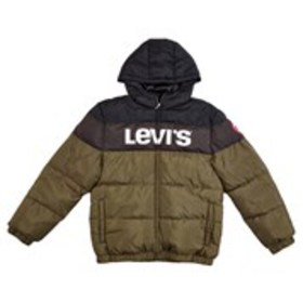 LEVI'S Boys Levi's Logo Graphic Hooded Puffer Coat