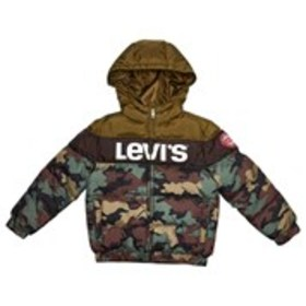 LEVI'S Boys Colorblock Hooded Puffer Coat (4-7)